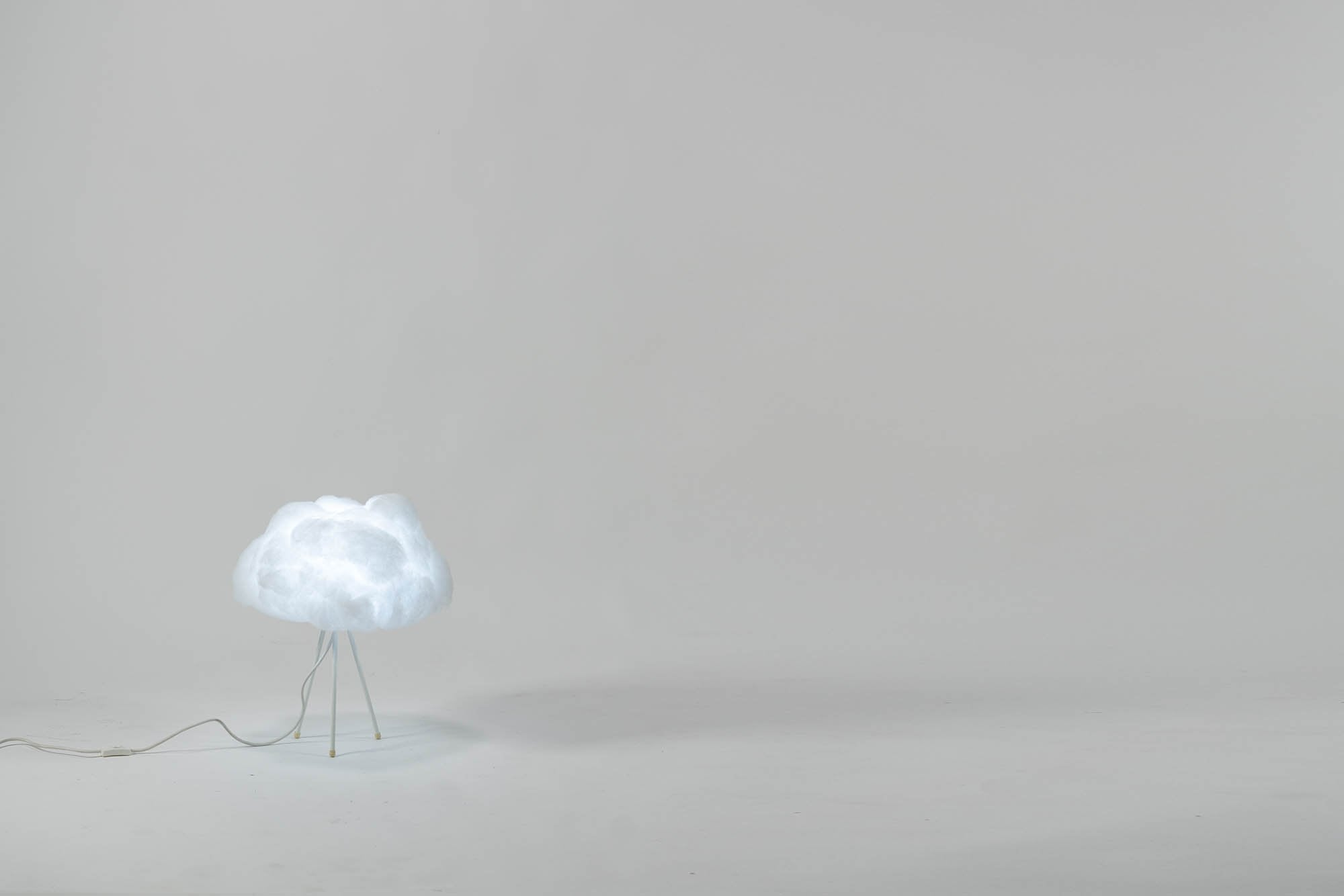 richard clarkson Lampshade Cloud - Tabletop Small White