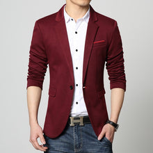 2018 England Style Mens Luxury Business Suit Blazers Male Casual Slim Fit Wedding Dress Coats Design Plus Size 4XL 6XL Wine Red