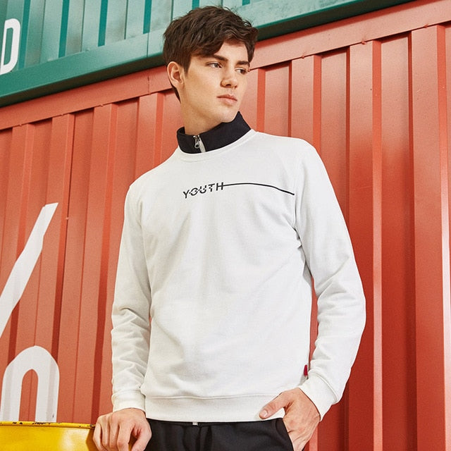 Pioneer Camp fashion tracksuit men brand-clothing casual spring autumn male hoodie sweatshirt quality black white AWY701280