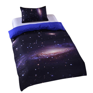 BeddingOutlet Hipster Galaxy Bedding Set Universe Outer Space Themed 3d Print Duvet Cover with Pillowcases  Home Textiles