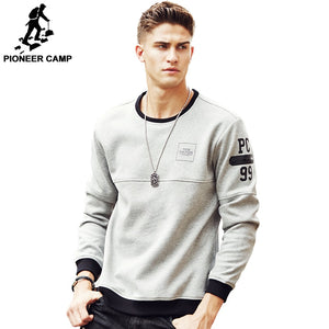 Pioneer Camp thick warm fleece hoodies men hot sale brand clothing autumn winter sweatshirts male quality men tracksuit 699035