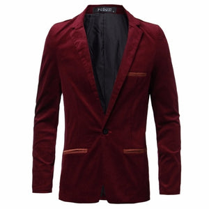 PODOM 2018 Winter Men Fashion Blazer Slim Fit Suit Jacket Casual Business Men Coat Blazers Dress Suit Plus Size Blazer Masculino