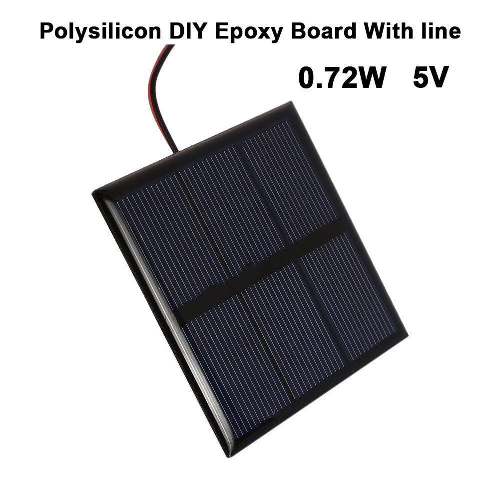 Solar Cell Solar Panel Charger Portable Charging Solar Systems Solar Power Panel Polycrystalline Solar Panels 0.72W 5V