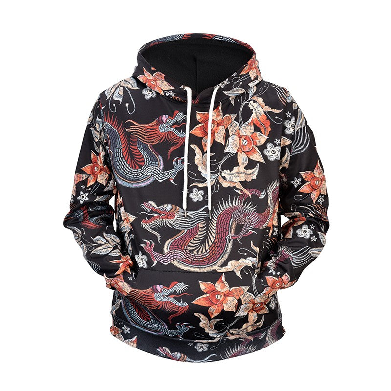 Chinese dragon style full print hoodie