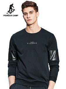 Pioneer Camp New arrival Hoodies men brand-clothing fashion patchwork male sweatshirt top quality casual tracksuit AWY702004