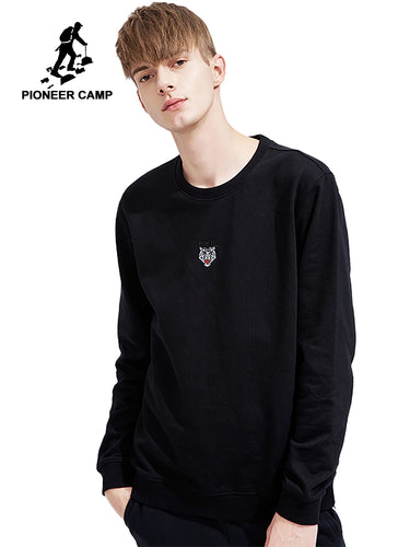 Pioneer camp new sweatshirts men hoodies brand clothing embroidery casual sweatshirt male top quality tracksuit black AWY802015