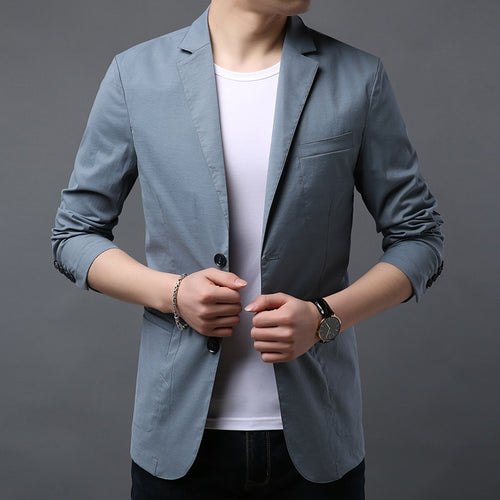 2019 New Fashion Jackets Mens Korean High Street Trend Windbreaker Overcoat Blue Party Clothes Long Casual Coat Men Clothing