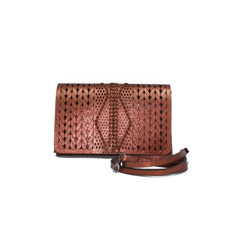 NANCY  CLUTCH SMALL LAMINATA