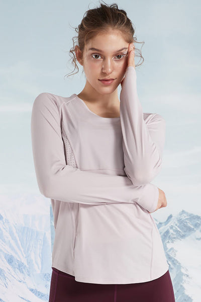 Longsleeve Q Light Purple - Yvette Sports