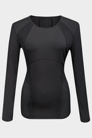 Longsleeve Q Black - Yvette Sports