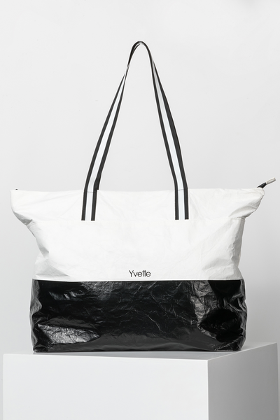 Shopper Earth White/Black - Yvette Sports