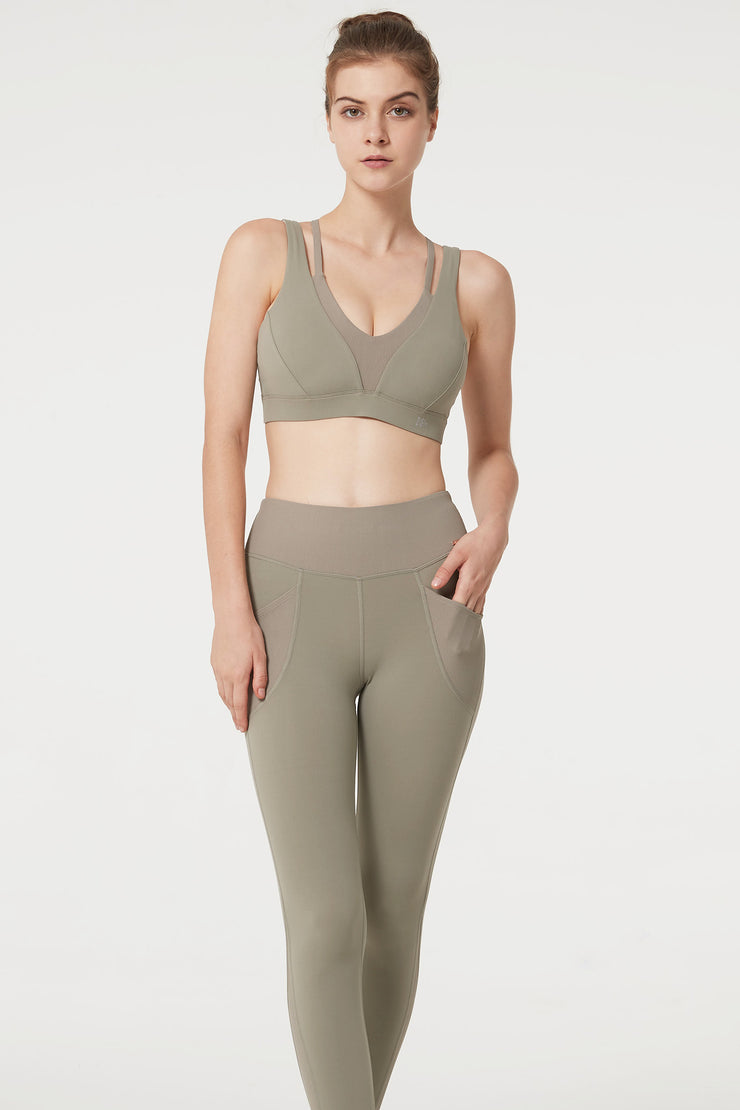 Sport-BH Yes Light Olive - Yvette Sports