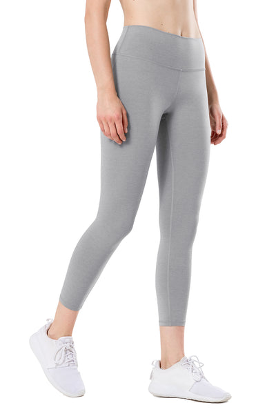 Yoga Leggings Charly Melange Grey - Yvette Sports