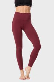 Yoga Leggings Charly Wine Red - Yvette Sports