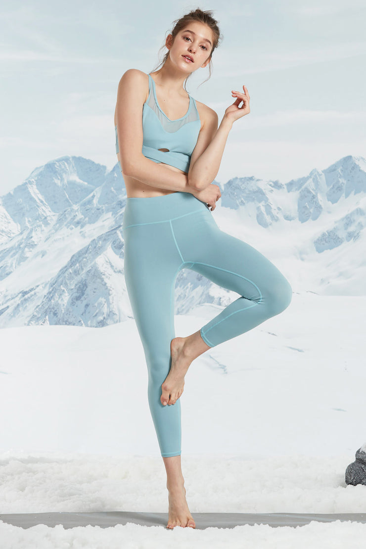 Leggings Free Blue - Yvette Sports