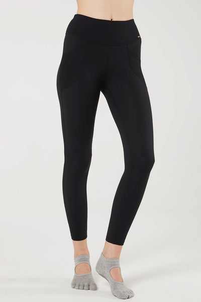 Leggings Rib Pocket Black - Yvette Sports