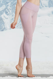 Leggings Rib Pocket Pink - Yvette Sports
