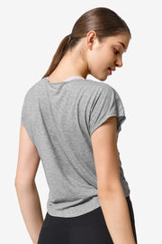 T-Shirt Jonda Light Grey Melange - Yvette Sports