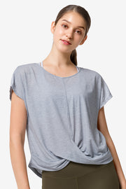 T-Shirt Jonda Blue Melange - Yvette Sports