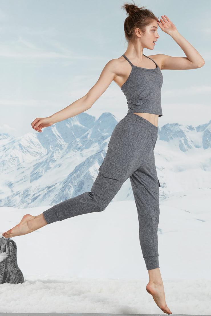 Yoga Top Suave Dark Grey - Yvette Sports