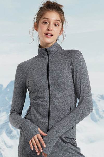 Zip Sweat Cold Dark Grey - Yvette Sports