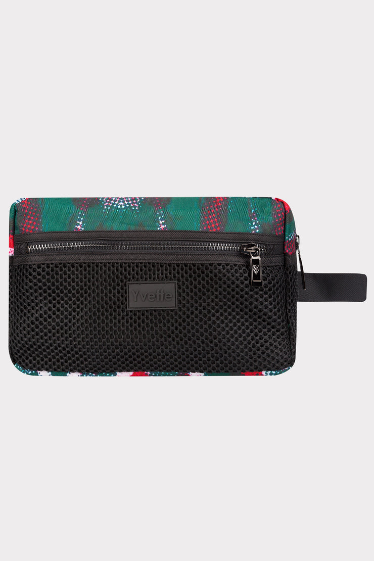 Kosmetiktasche Red/Green/Black - Yvette Sports