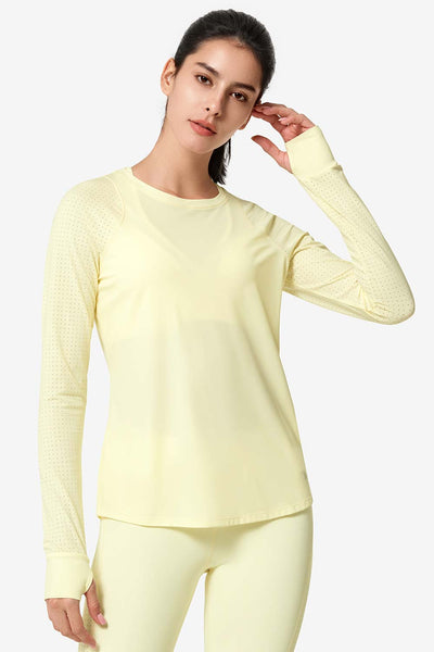 Longsleeve Katy Yellow - Yvette Sports