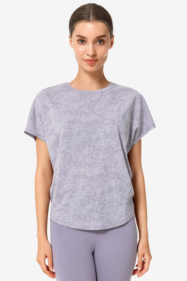 T-Shirt Knot Purple - Yvette Sports