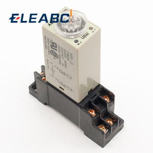 H3Y-2 AC 220V Delay Timer Relay 0 - 30 Minute/Seconds with Base