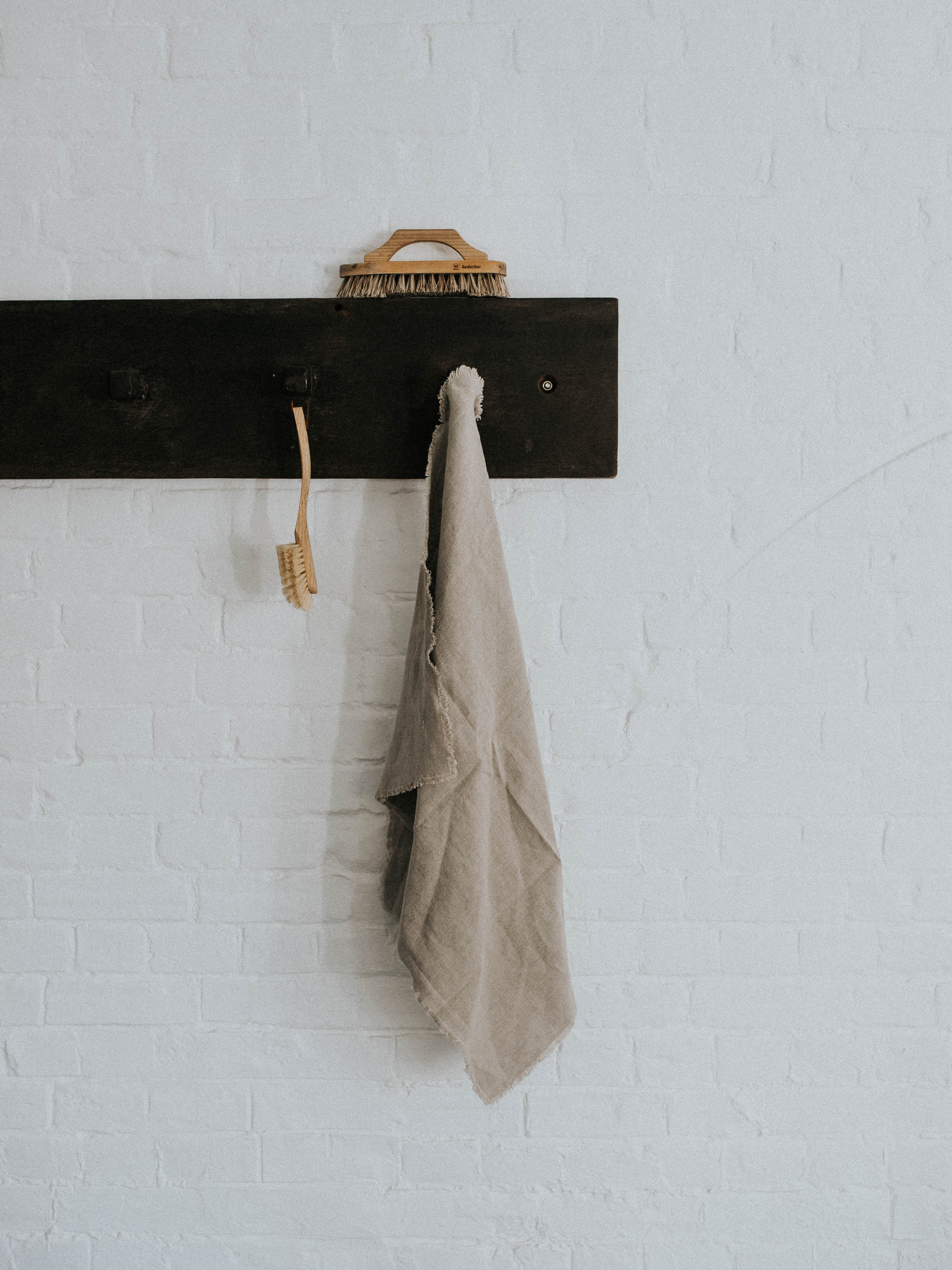 Fringe Edged Lined Tea Towel