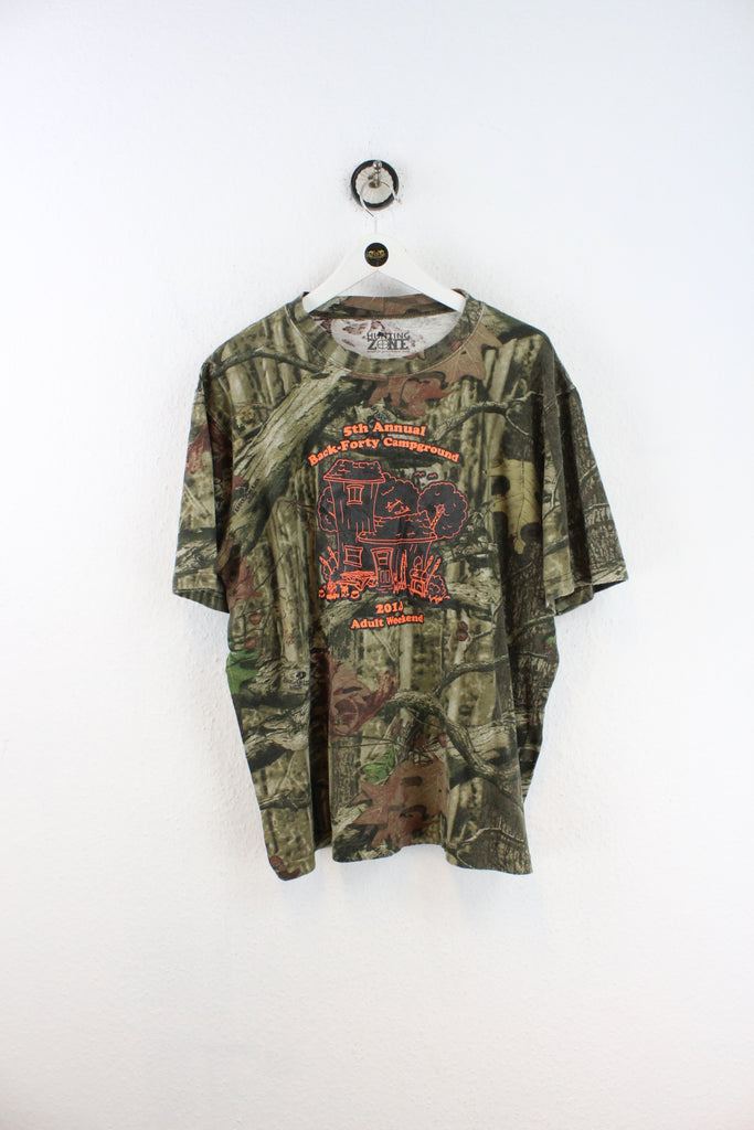 Vintage 5th Annual Back-Forty Campground Camouflage T-Shirt (XL) - Vintage & Rags
