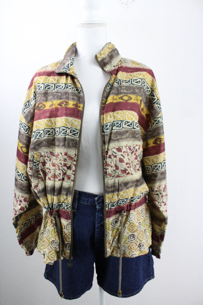Vintage Silk East West Jacket (S) - Vintage & Rags Online
