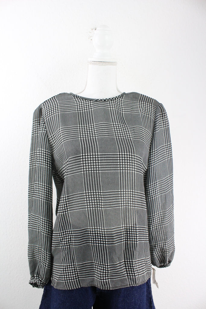 Vintage Checkered Blouse (S) - Vintage & Rags Online