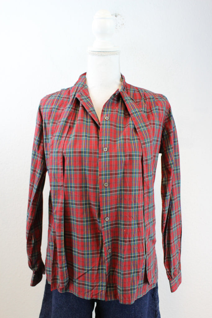 Vintage Checkered Shirt (S) - Vintage & Rags Online
