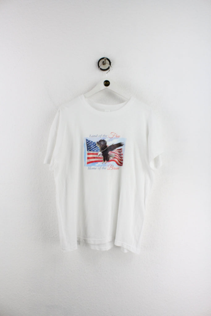 Vintage Land Of The Free Home Of The Brave T-Shirt (L) - Vintage & Rags