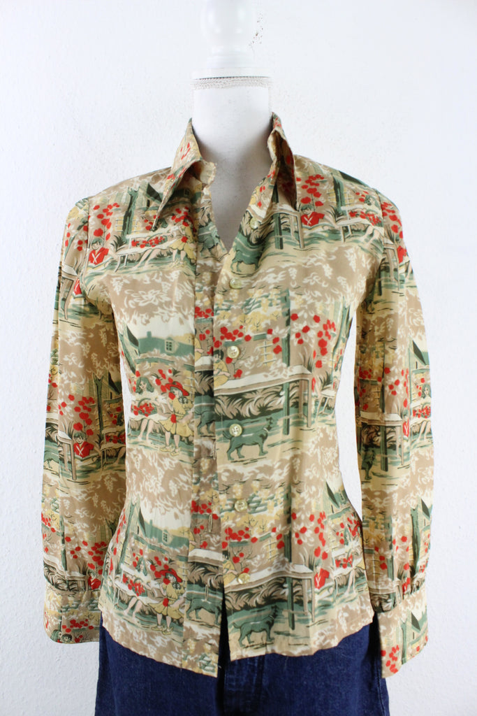 Vintage Apple Shirt (S) - Vintage & Rags