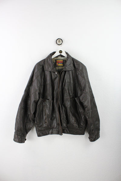 Vintage Disney Store Leather College Jacket (XL)