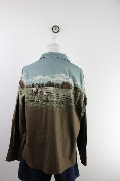 Vintage Tech-Polyester Jacket ( L )