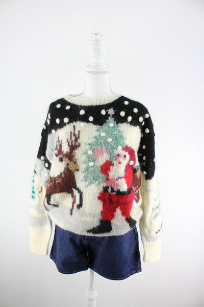 Vintage Christmas Sweater (L)