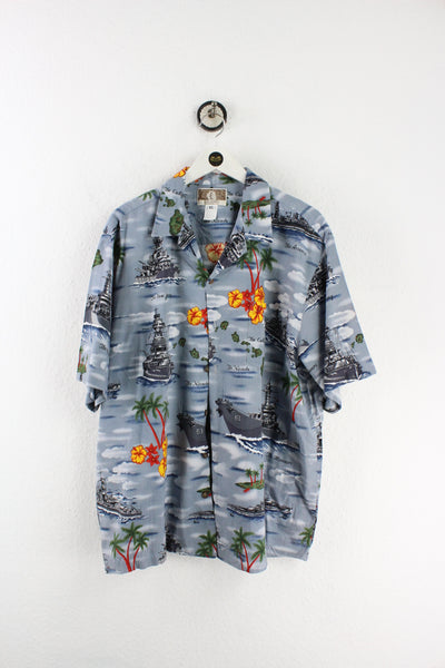 Vintage US Battle Ships Hawaii Shirt (XL)