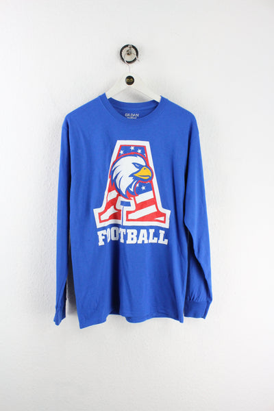Vintage American Football Varsity Long Sleeve Shirt (M)