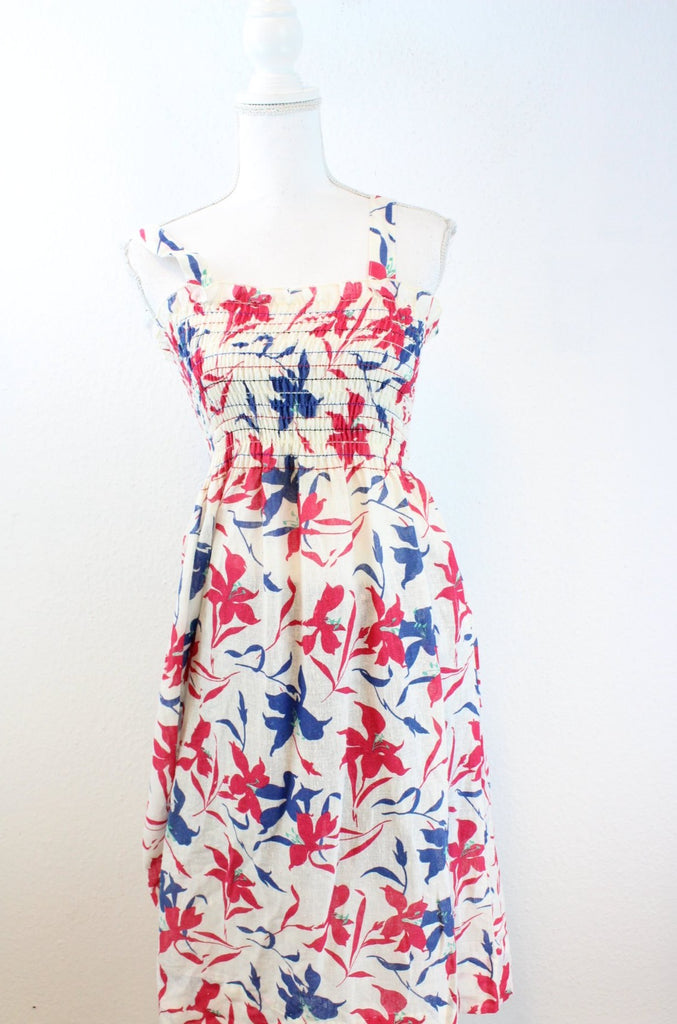 Vintage Blue and Pink Dress (S) - Vintage & Rags