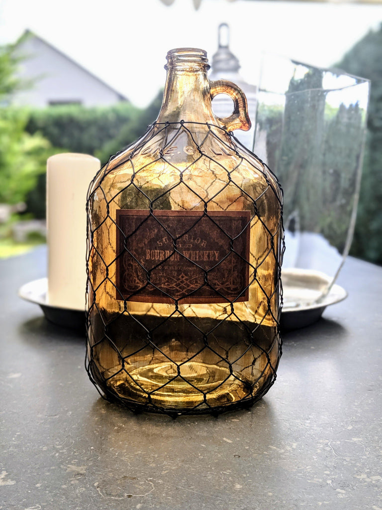 Burbon Whiskey Gallon Decoration - Vintage & Rags