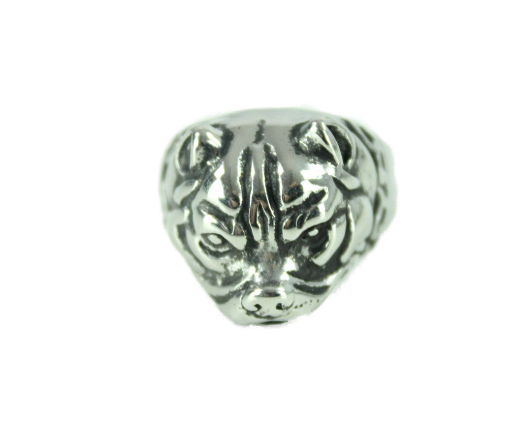 Dog Stainless Steel Ring - Vintage & Rags Online