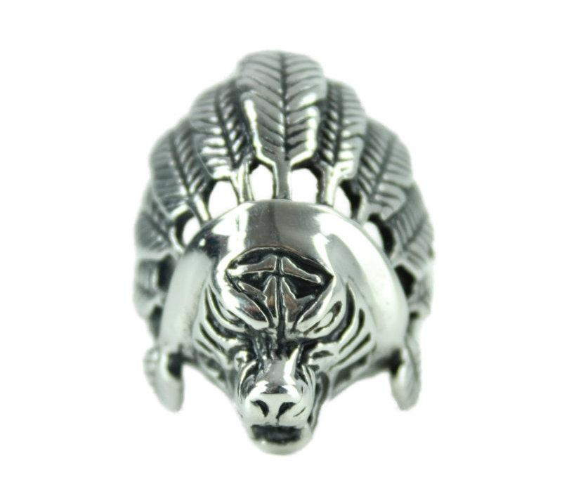 Indian Animal Stainless Steel Ring - Vintage & Rags
