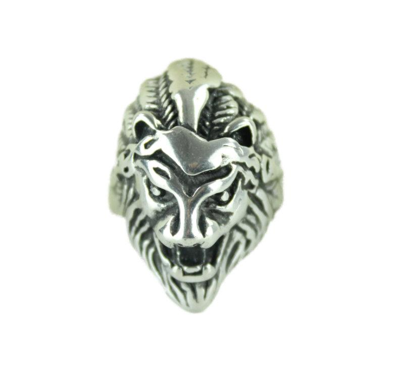 Lion Stainless Steel Ring - Vintage & Rags Online