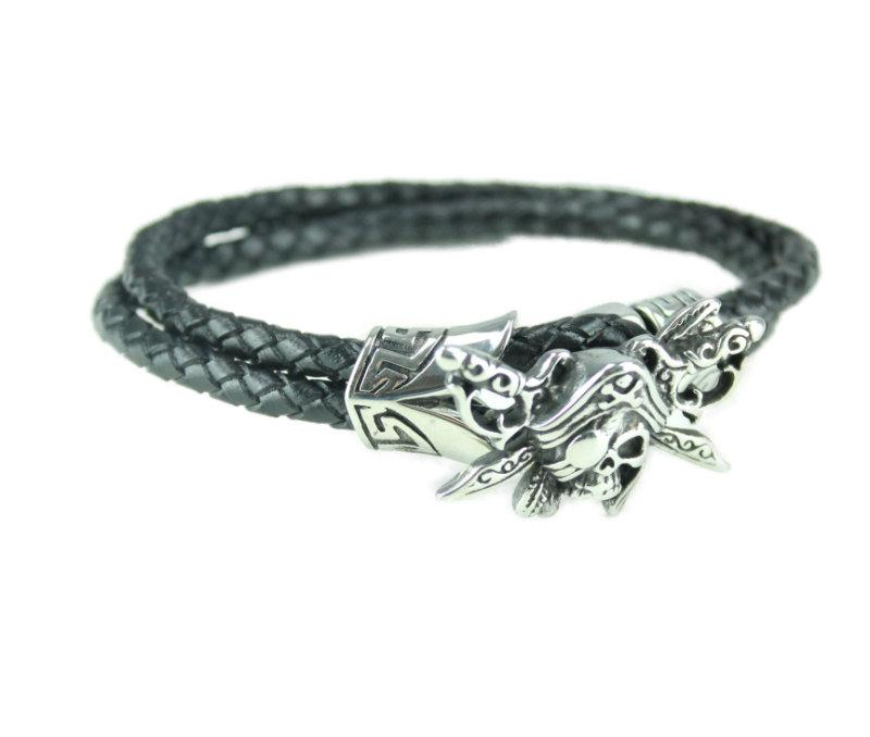 Pirate Leather Bracelet - Vintage & Rags