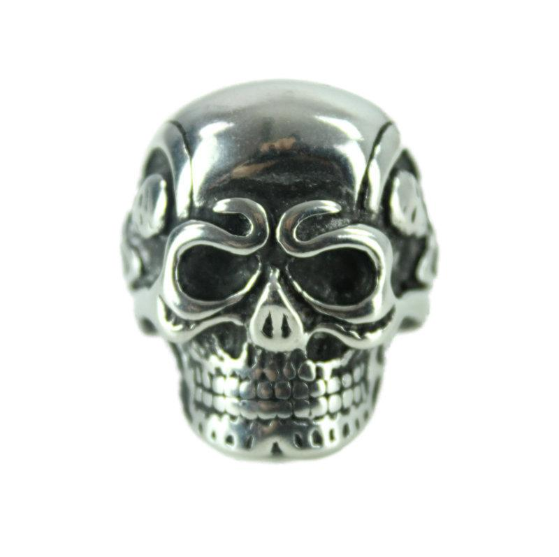 Skeleton Skull Stainless Steel Ring - Vintage & Rags