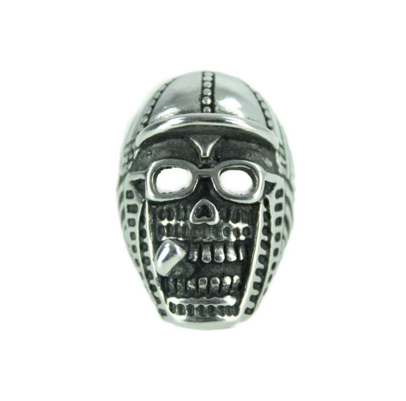 Smoking Dude Stainless Steel Ring - Vintage & Rags