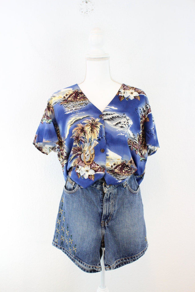 Vintage Blue Hawaii Shirt (L) Vintage & Rags